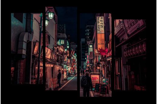 Модульная картина Улочки Токио
