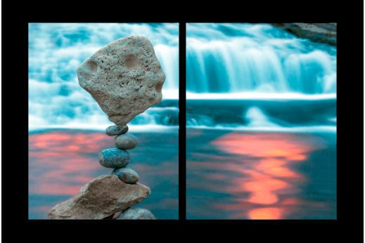 Модульная картина Балансирующие камни